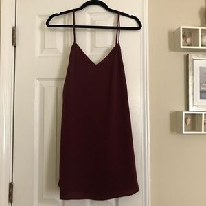 Maroon open back dress